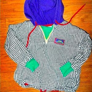 Gymboree vintage plaid pullover medium 4-5 years